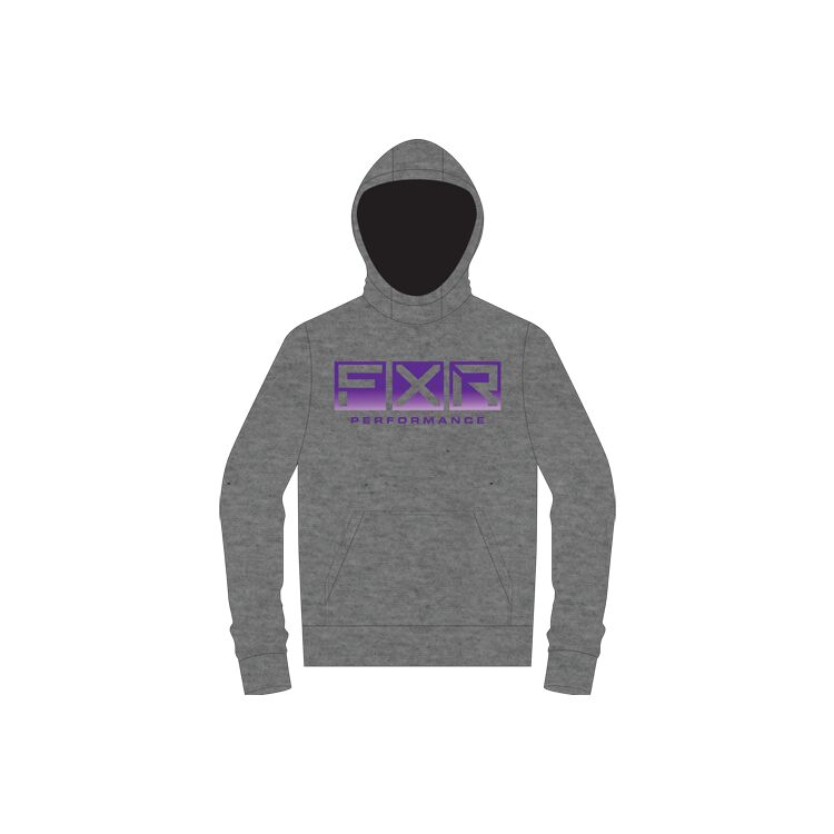 Grey Heather/Purple Fade