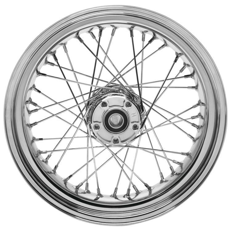 """Biker's Choice 40 Spoke 16"""" X 3"""" Front / Rear Wheel For Harley FL 1967-1972"""