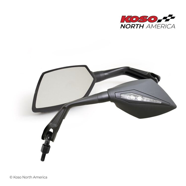 Koso Apex Mirrors with Integrated Turn Signals
