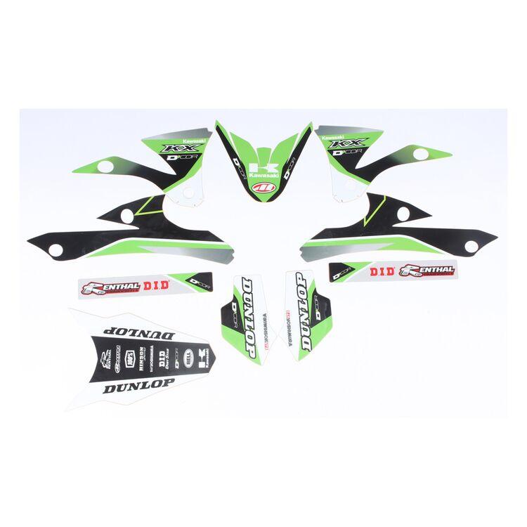 D'COR Visuals Raceline Graphics Kit Kawasaki KX85 / KX100 2014-2019