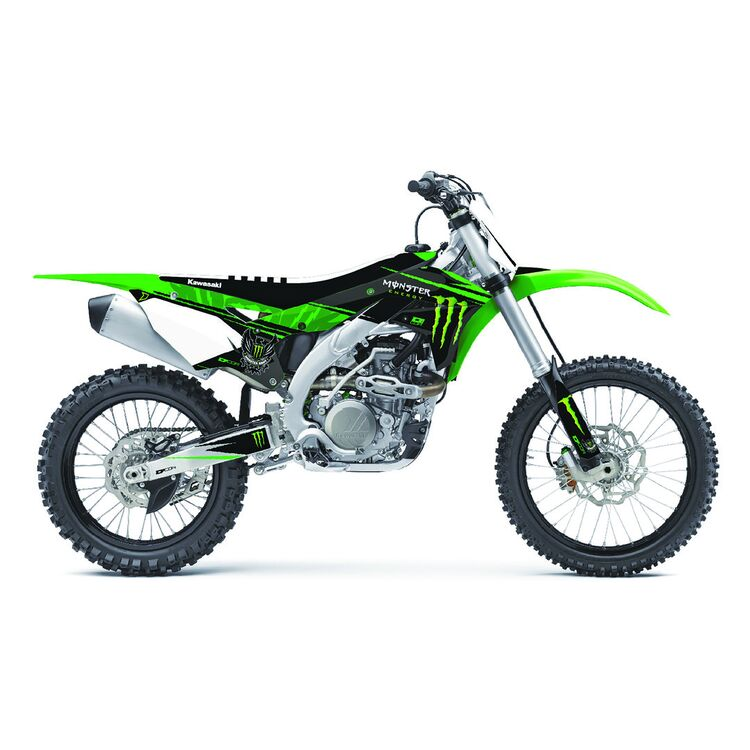 D'COR Visuals Monster Energy Graphics Kit Kawasaki KX125 / KX250 2003-2007