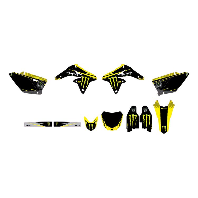 D'COR Visuals Monster Energy Graphics Kit Suzuki RM125 / RM250 2001-2008