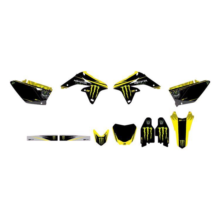 D'COR Visuals Monster Energy Graphics Kit Suzuki RMZ250 2010-2018