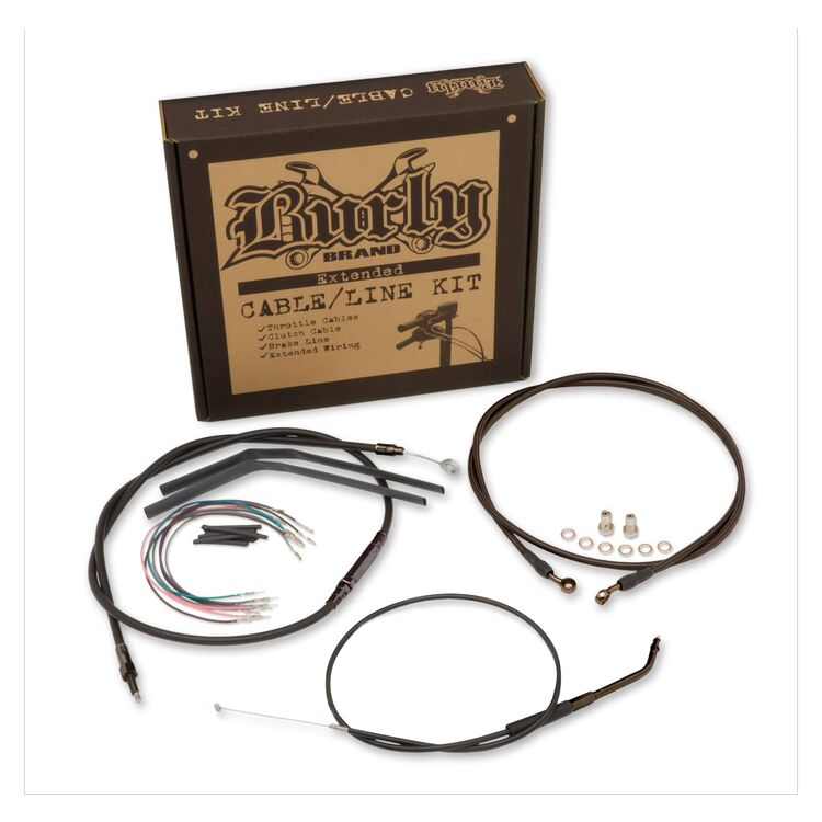"""Burly Brand Extended Cable/Line Kit For 12"""" Apes Honda Rebel 1100 2021"""